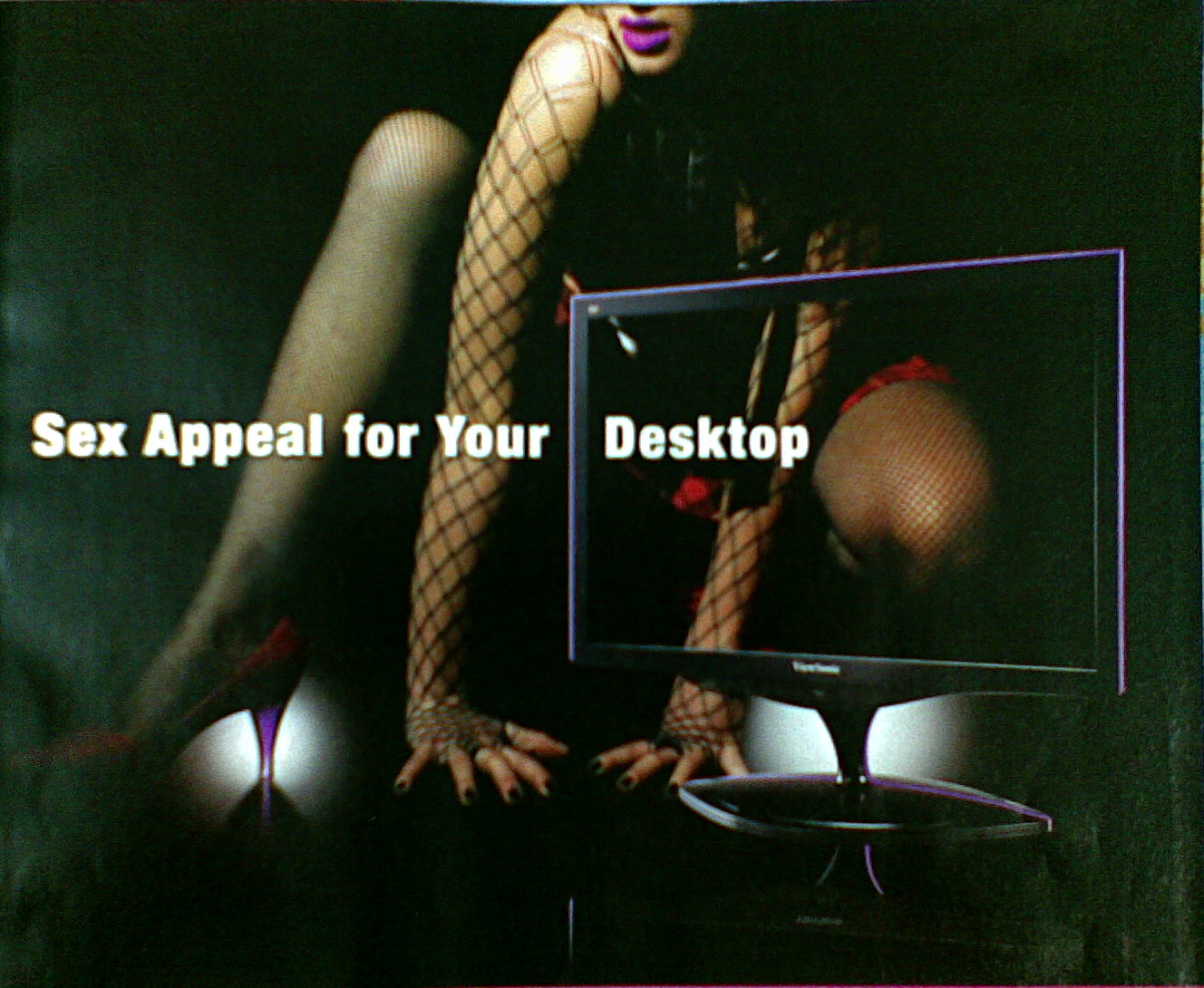 Viewsonic LCD monitor \'Sex Appeal for Desktop\' Ad