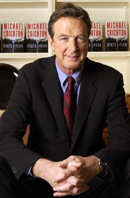 Michael Crichton, at the book launch of State of Fear
