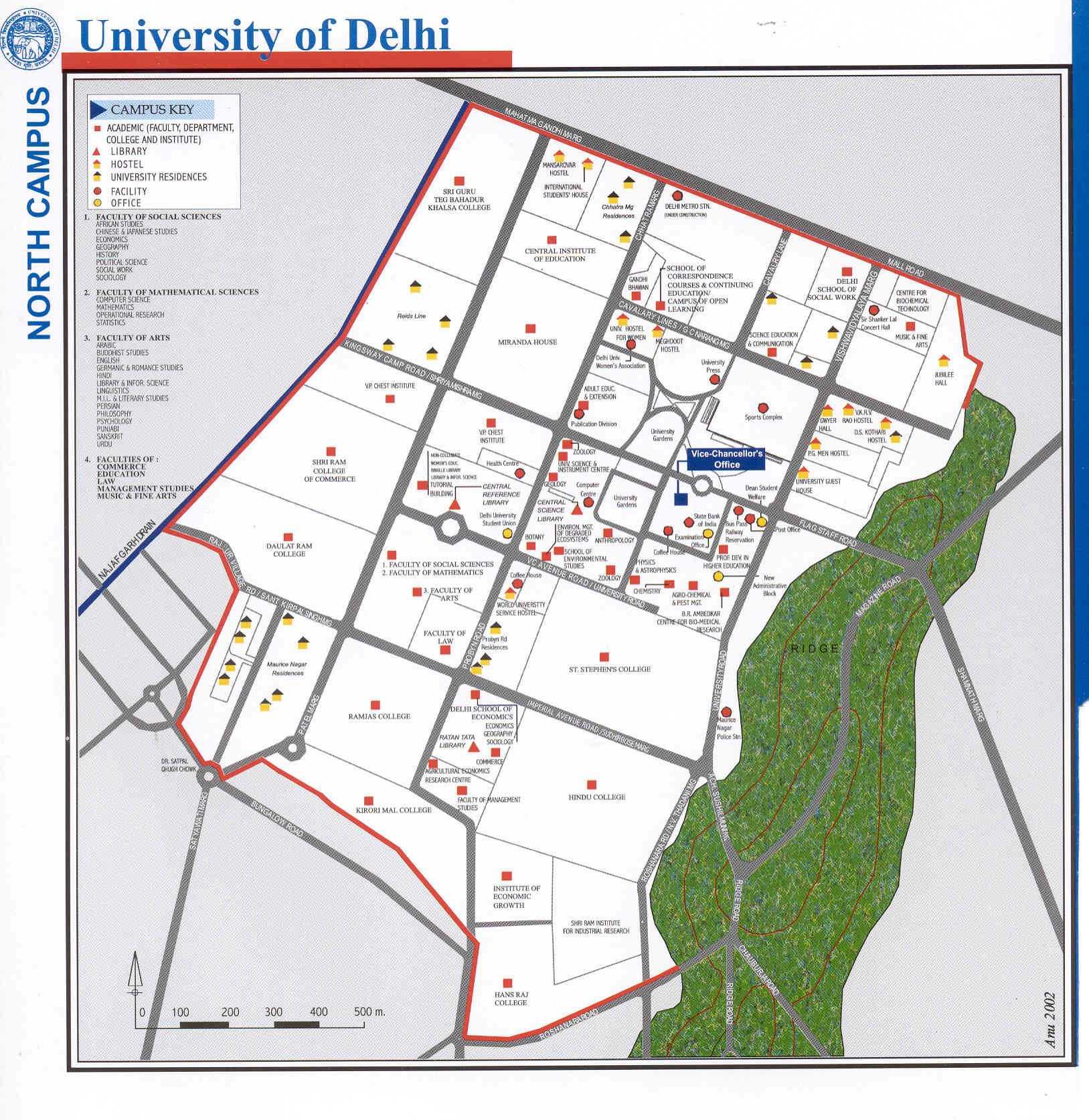 DU North Campus map