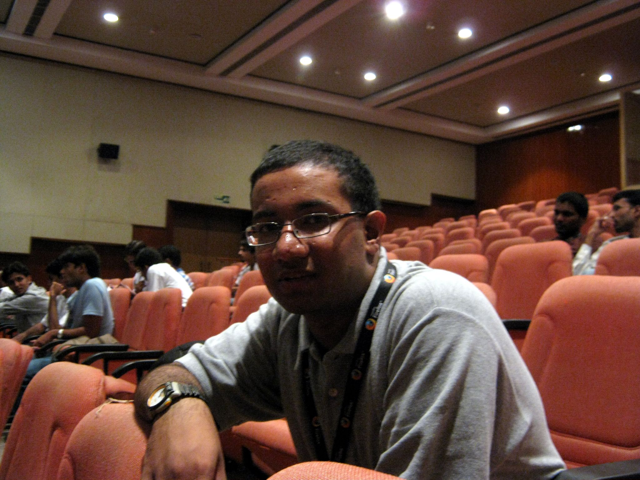 Me, at OSSCamp. Damn, those chickenpox scars just won't go away.