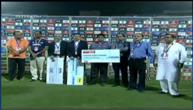 Screenshot of IPL broadcast on YouTube showing incorrect aspect ratio