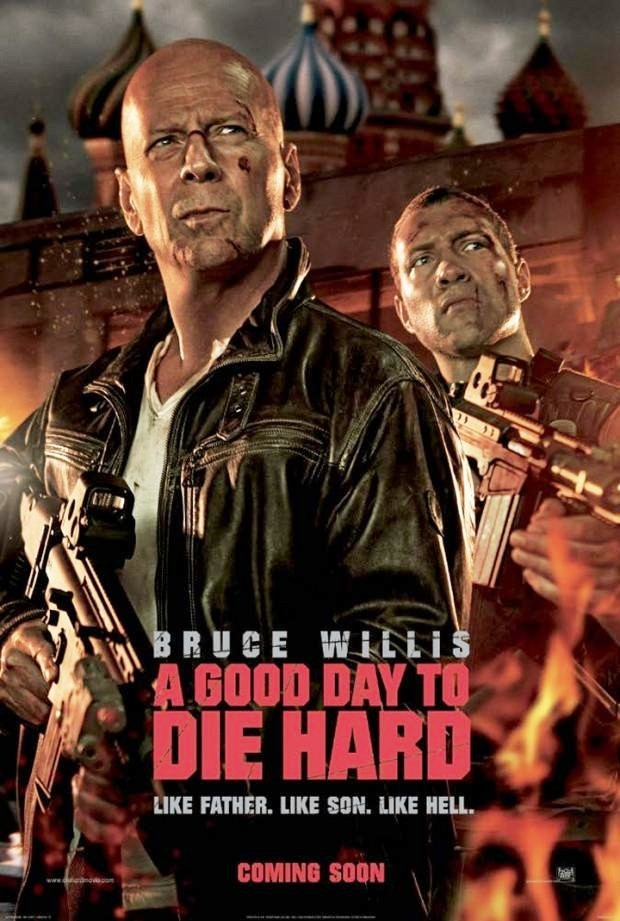 A Good Day To Die Hard film poster